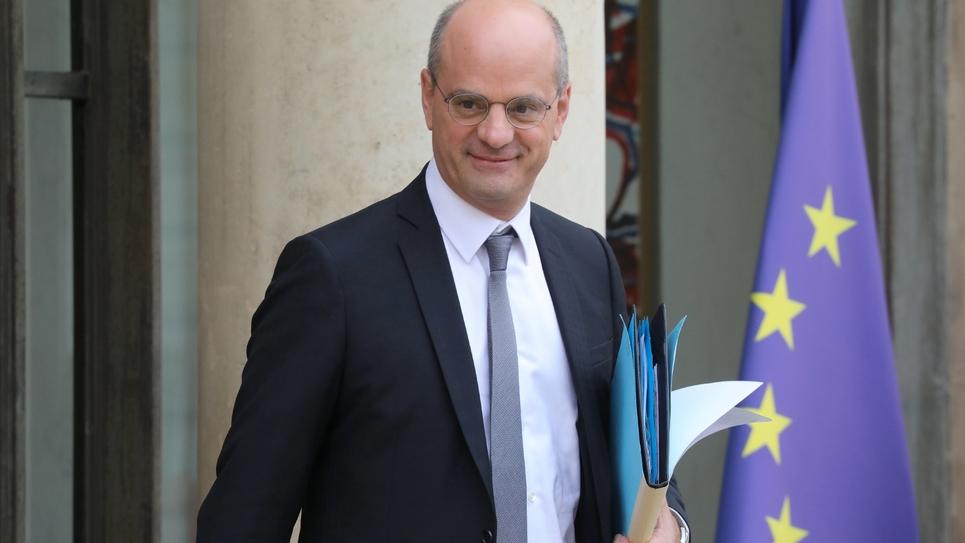 Le ministre de l'Education Jean-Michel Blanquer à l'Elysée à Paris le 30 octobre 2018