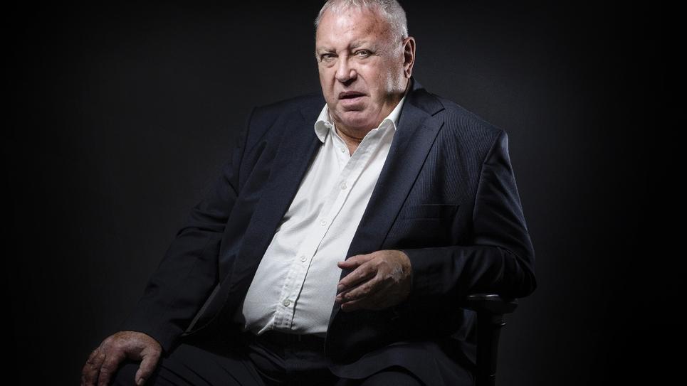 Gérard Filoche, lors d'une séance photo à Paris le 19 septembre 2016