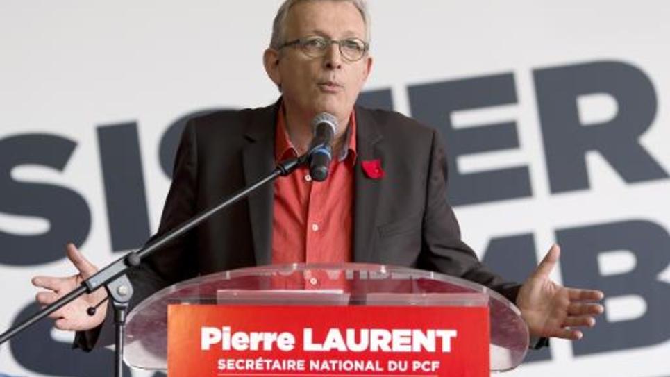 Le secrétaire national du Parti communiste Pierre Laurent à la Fête de l'Humanité le 13 septembre 2014 à La Courneuve