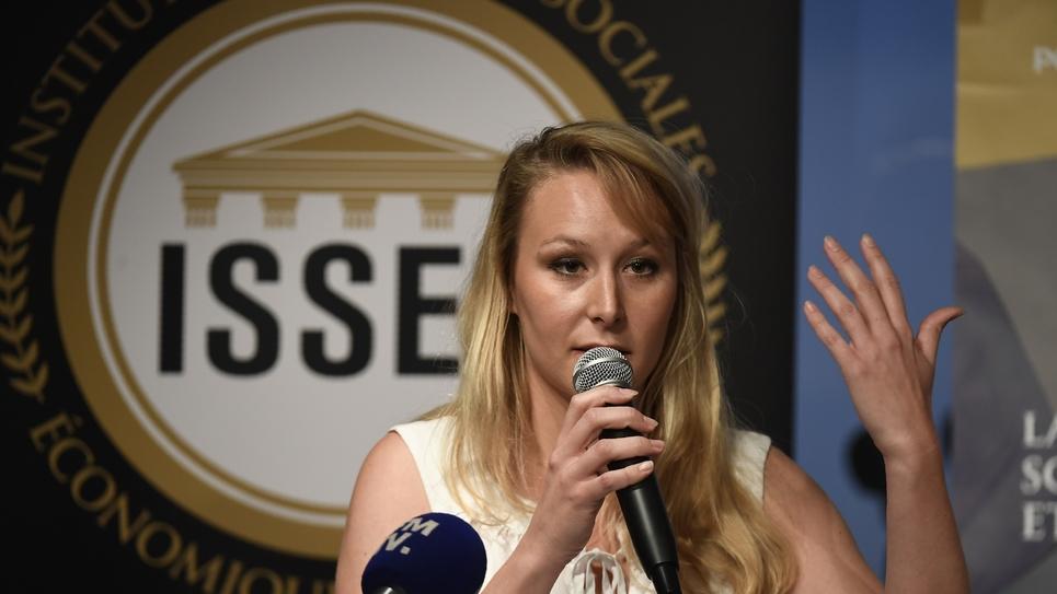 Marion Marechal le 14 juin 2019 à Lyon pour le premier anniversaire de l'école de Sciecnes politiques qu'elle a fondée