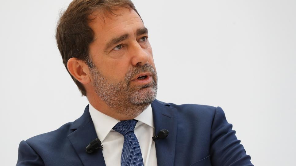 Le délégué général de La République en marche (LREM) Christophe Castaner durant sa conférence de presse le 14 septembre 2018 à Paris.