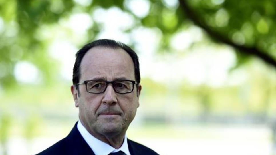 Le président François Hollande à Riga le 22 mai 2015