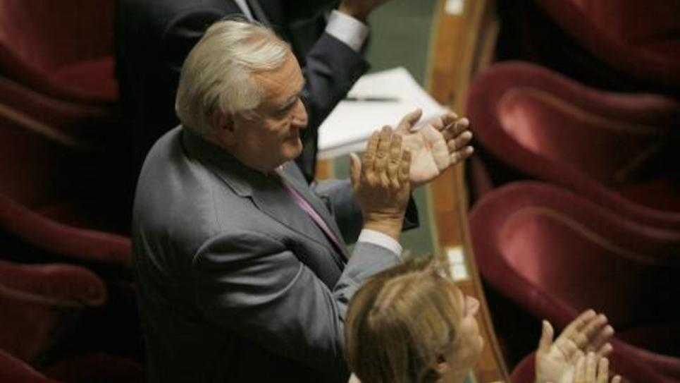 Le sénateur UMP Jean-Pierre Raffarin, le 28 septembre 2014 à Paris
