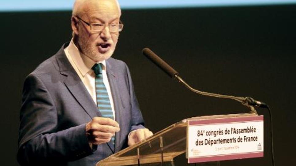 Claudy Lebreton, président (PS) de l'Assemblée des départements de France (ADF), le 6 novembre 2014 à Pau