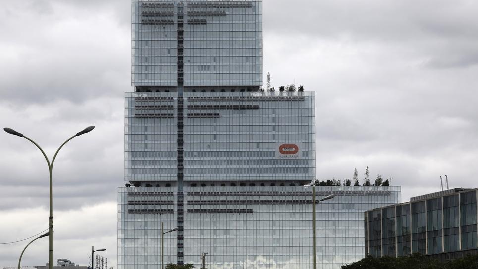 Le palais de justice de Paris en construction, le 5 septembre 2017
