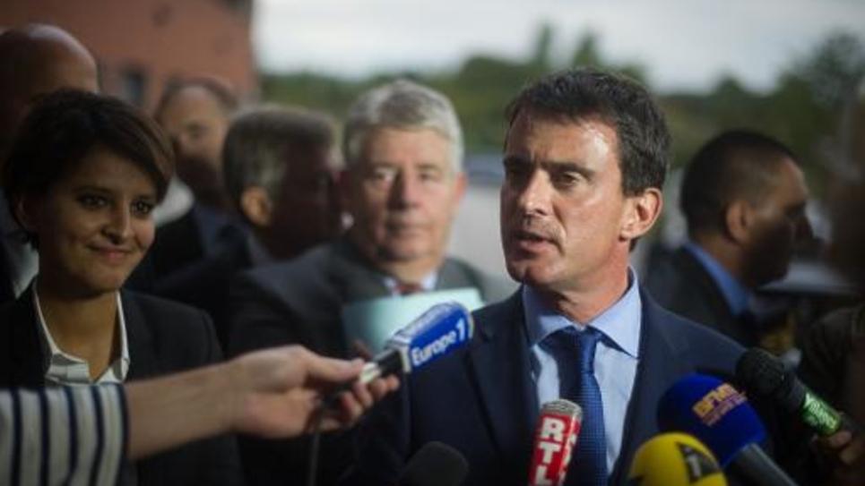 Le Premier ministre Manuel Valls lors d'une visite à Besançon le 29 septembre 2014