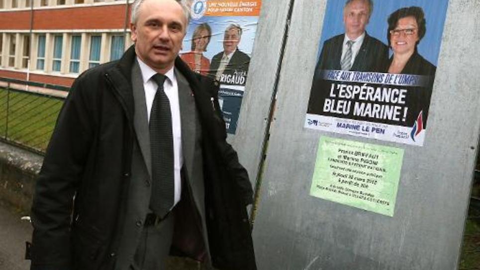 Franck Briffaut, maire FN de Villers-Cotterets, le 29 mars 2015 à Villers-Cotterêts