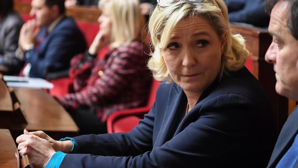 Marine Le Pen à l'Assemblée nationale à Paris le 23 janvier 2019