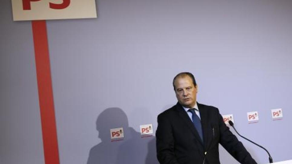 Le premier secrétaire du Parti Socialiste Jean-Christophe cambadélis lors d'une conférence de presse à Paris le 23 octobre 2014