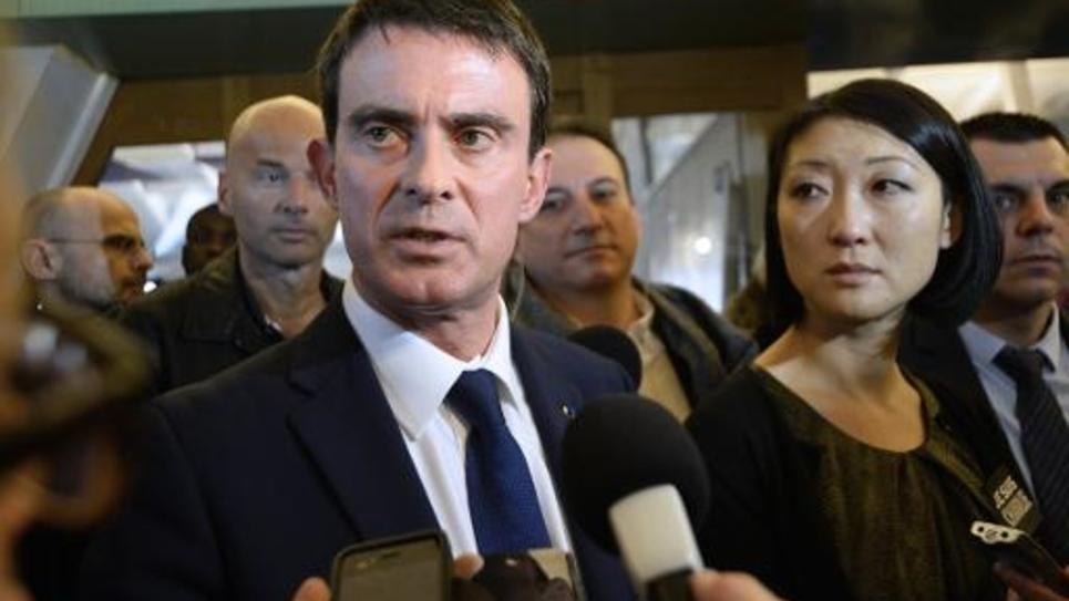 Le Premier ministre Manuel Valls et la ministre de la Culture Fleur Pellerin le 9 janvier 2015 à Paris