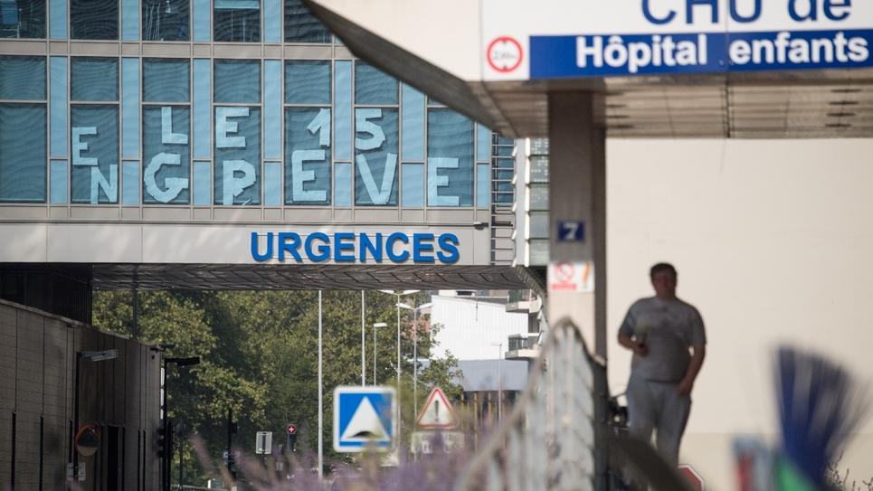 Le service des urgences en grève au CHU de Nantes, le 27 août 2019