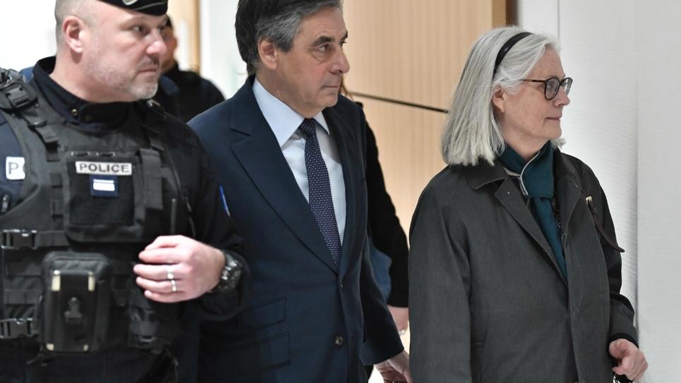 Le couple Fillon, au palais de justice à Paris le 27 février 2020