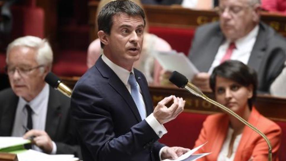 Le Premier ministre Manuel Valls à l'Assemblée nationale à Paris, le 12 mai 2015