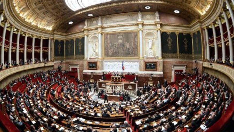 Vue générale de l'Assemblée nationale où les députés devront se prononcer, le 28 novembre 2014 sur une proposition de résolution invitant à reconnaître l'Etat palestinien