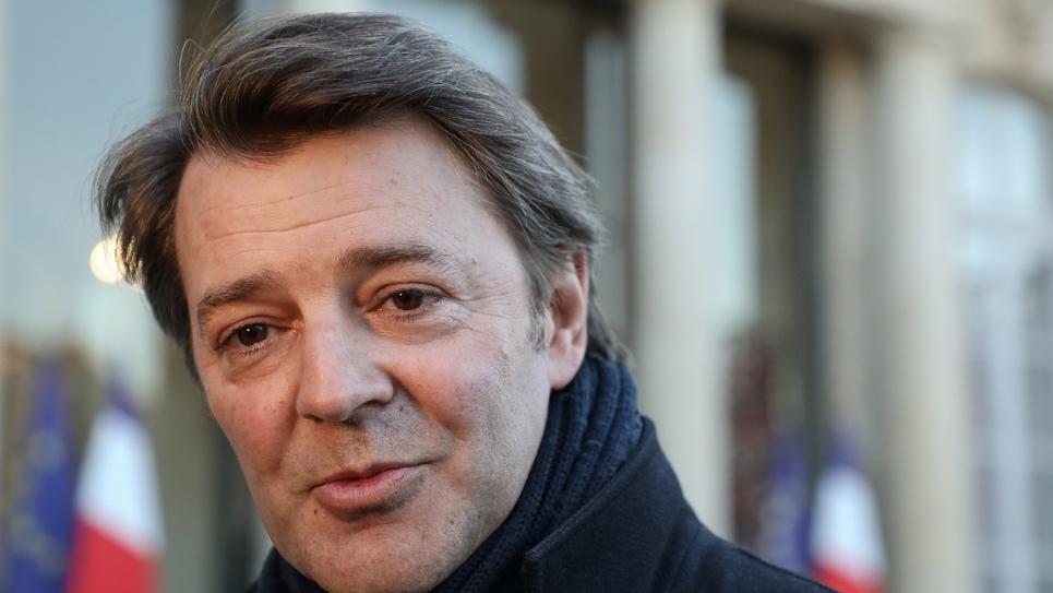 François Baroin, maire de Troyes et président de l'association des maires de France (AMF) le 26 février 2019 à l'Elysée