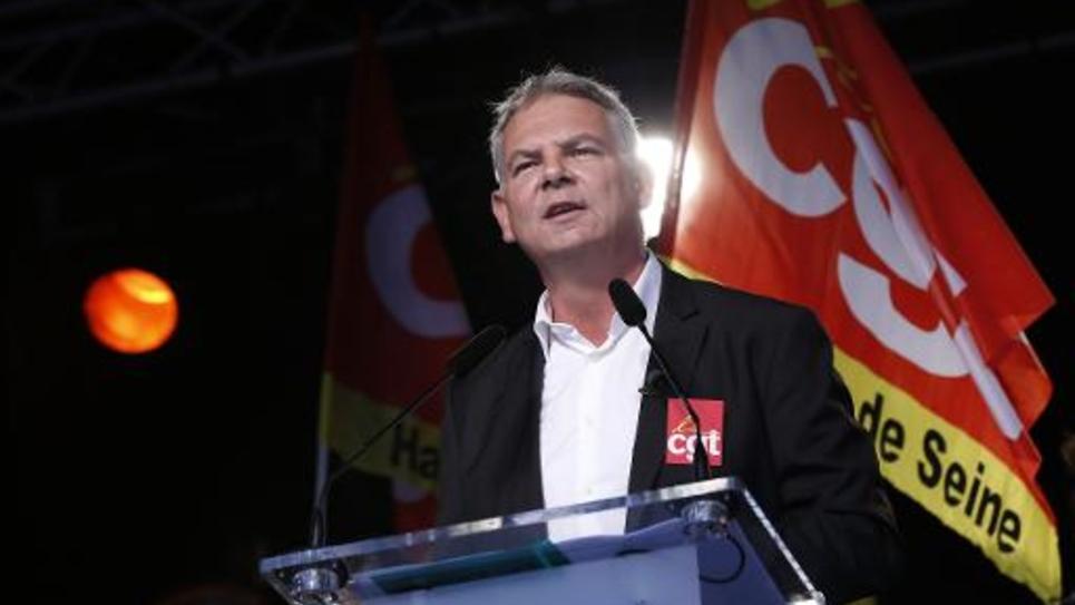 Le secrétaire général de la CGT Thierry Lepaon le 16 octobre 2014 à Paris