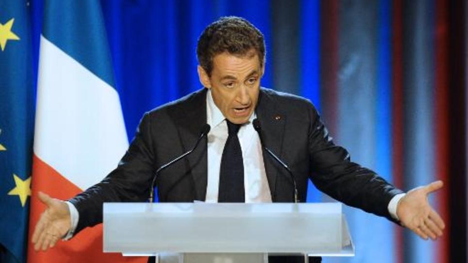 L'ex-président Nicolas Sarkozy lors d'un meeting de l'UMP le 3 novembre 2014 à Nancy