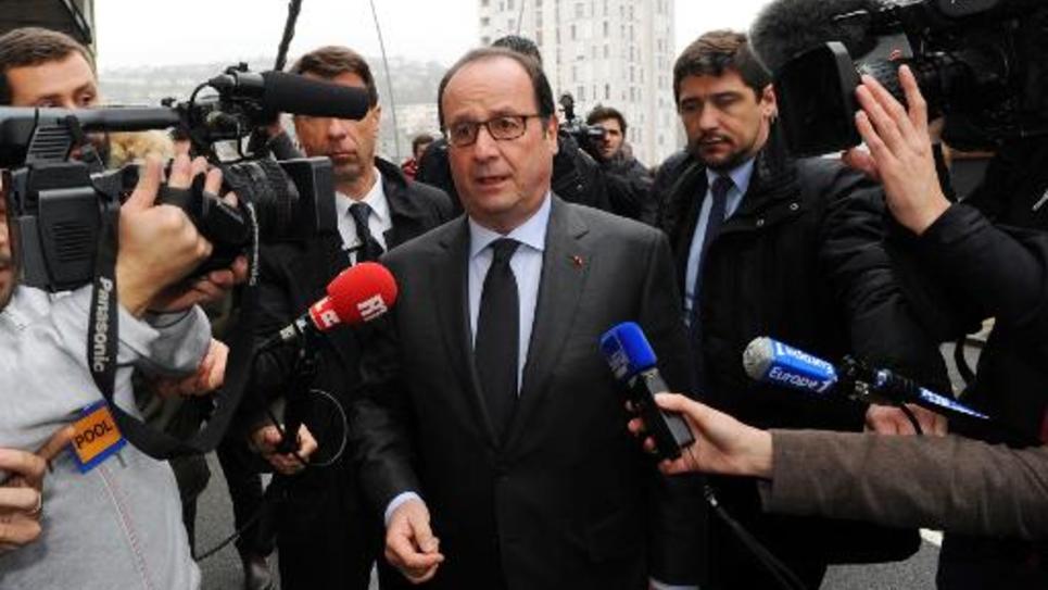 Francois Hollande le 29 mars 2015 à Tulle