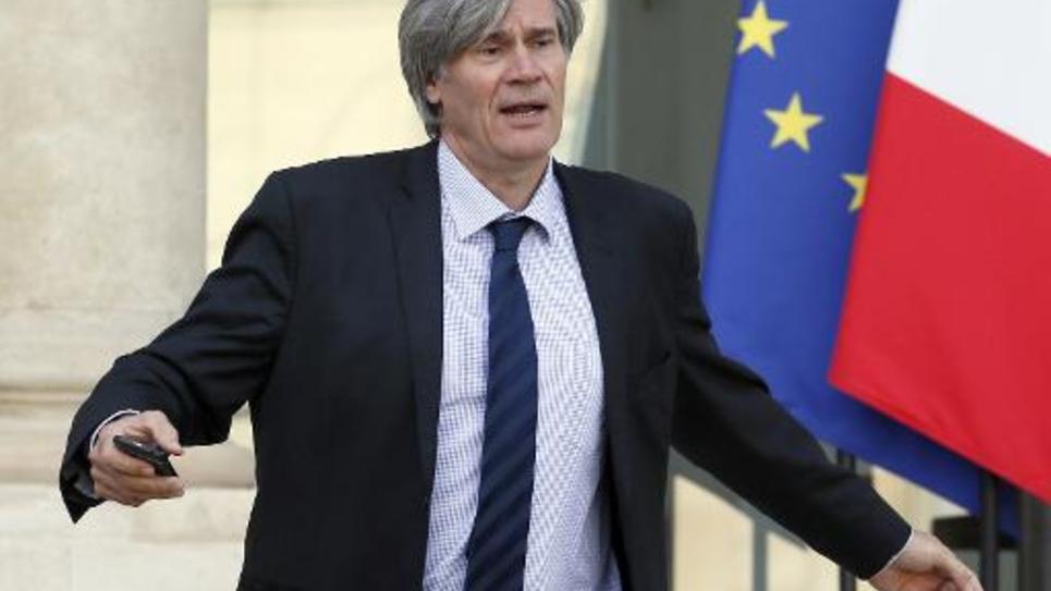 Stéphane Le Foll à la sortie du Conseil des ministres le 5 novembre 2014 à l'Elysée à Paris