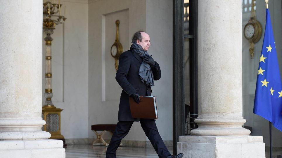 Le ministre de la Justice, Jean-Jacques Urvoas, le 18 janvier 2017 à l'Elysée