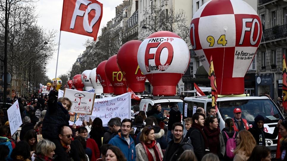 Manifestation à l'appel de FO et de la CGT le 19 mars 2019 à Paris