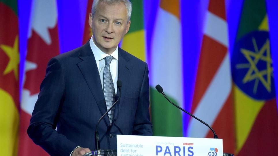 Le ministre de l'Economie Bruno Le Maire, lors d'une intervention au Forum de Paris, le 7 mai 2019