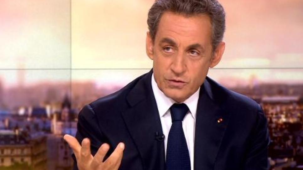 Capture d'écran montrant Nicolas Sarkozy lors de son interview sur France 2, le 21 septembre 2014