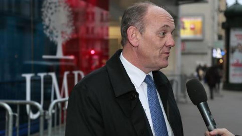 Le député UMP Daniel Fasquelle, le 6 janvier 2015 devant le siège de son parti, à Paris