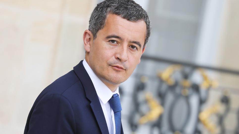 Le ministre de l'Action et des Comptes publics Gérald Darmanin à la sortie du conseil des ministres à l'Elysée le 28 août 2019