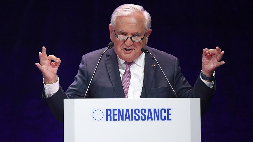 L'ancien Premier ministre Jean-Pierre Raffarin s'exprime, le 11 mai 2019 à Strasbourg