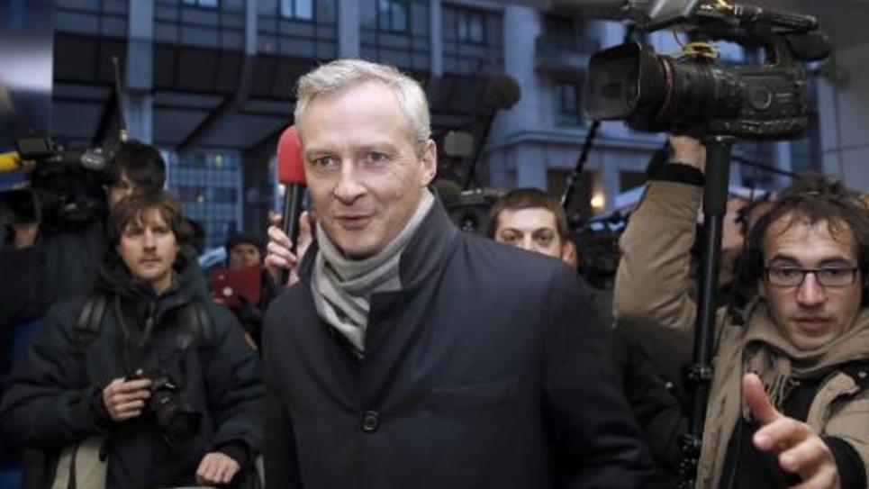 L'ancien ministre UMP Bruno Le Maire, le 3 février 2015 à l'entrée du siège de son parti, à Paris