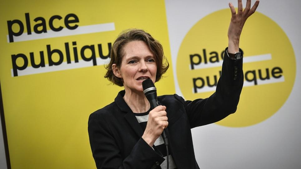 Claire Nouvian, lors de l'annonce de sa candidature pour les européennes, à Paris, le 15 mars 2019