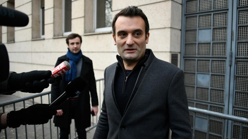 Le président des Patriotes Florian Philippot à Paris, le 3 janvier 2019