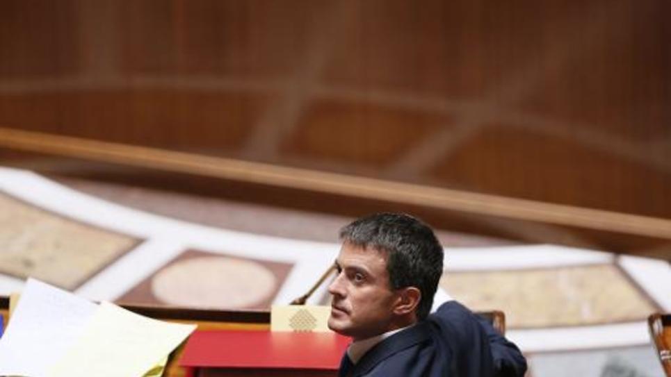Le Premier ministre Manuel Valls le 16 septembre 2014 à l'Assemblée nationale à Paris