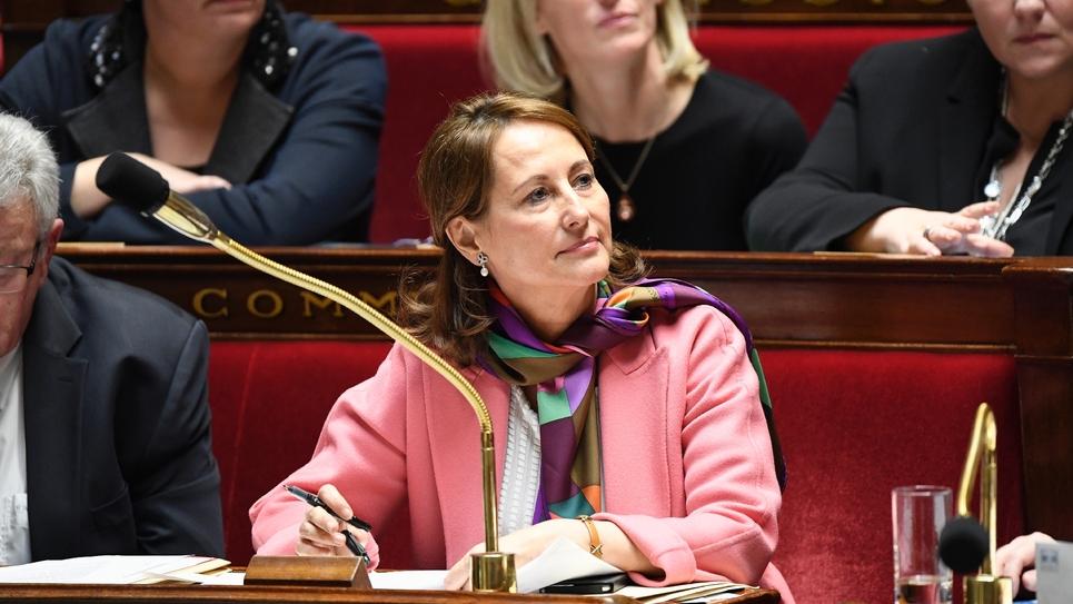 Ségolène Royal lors des questions au gouvernement le 24 janvier 2017 à l'Assemblée nationale à Paris