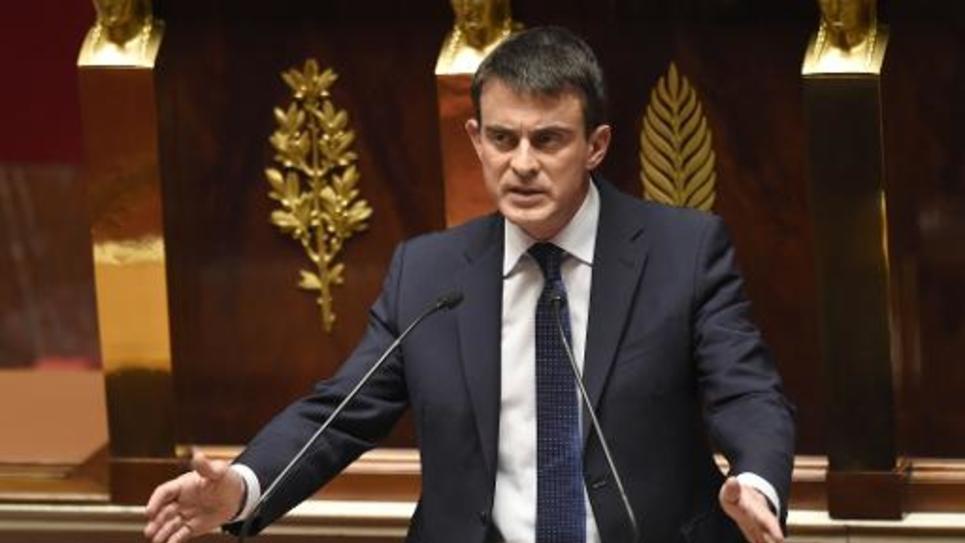 Le Premier ministre Manuel Valls à l'Assemblée nationale, le 29 avril 2014