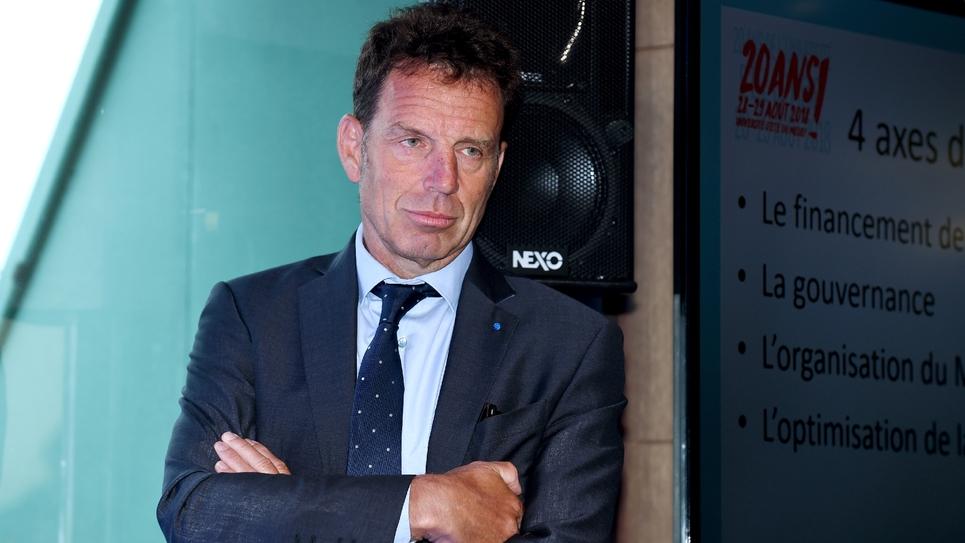 Le nouveau président du Medef, Geoffroy Roux de Bézieux, au siège du Medef à Paris, le 27 août 2018