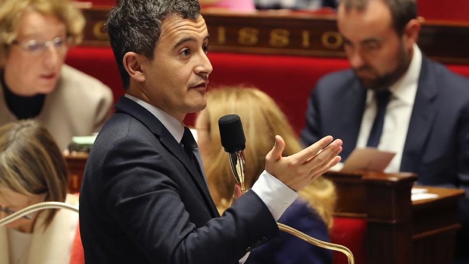 Gérald Darmanin, le 28 novembre à l'Assemblée nationale