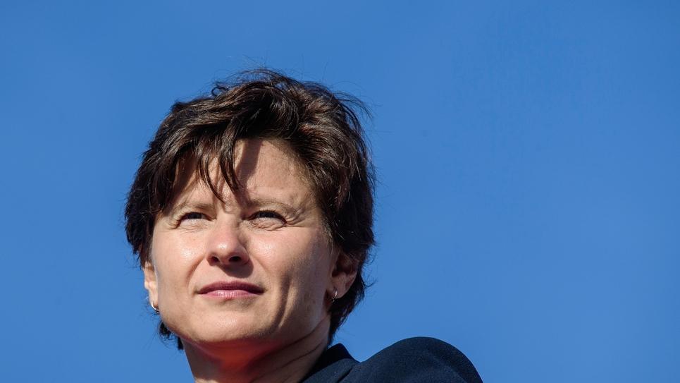 """La ministre des Sports Roxana Maracineanu suit la 22e édition de """"La Parisienne"""", le 9 septembre 2018 à Paris"""