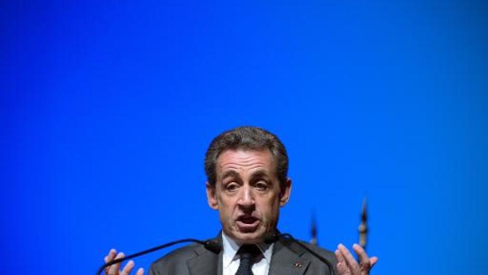 Le président de l'UMP Nicolas Sarkozy à Marseille, le 5 mars 2015