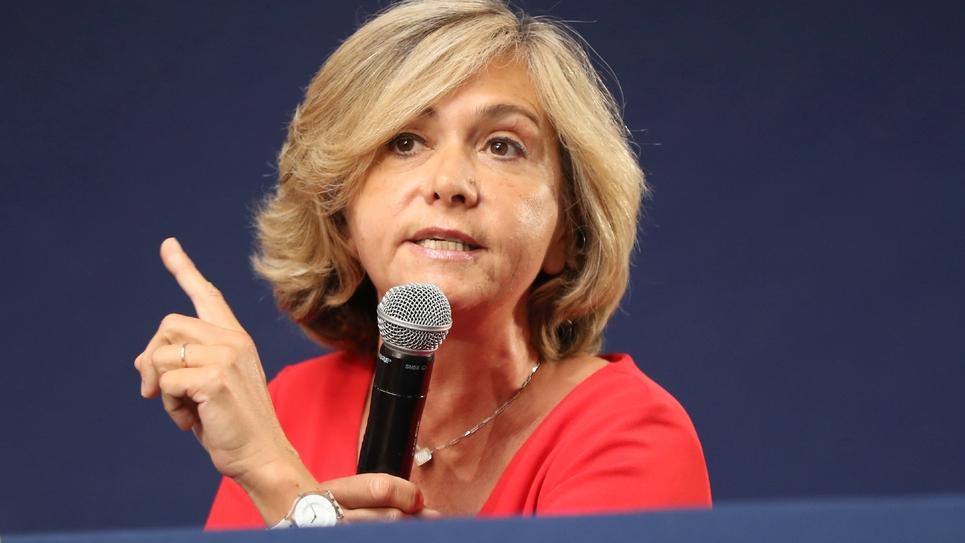 La présidente LR de la Région Ile-de-France lors d'un congrès Les Républicains à Menton (Alpes-Maritimes), le 30 juin 2018