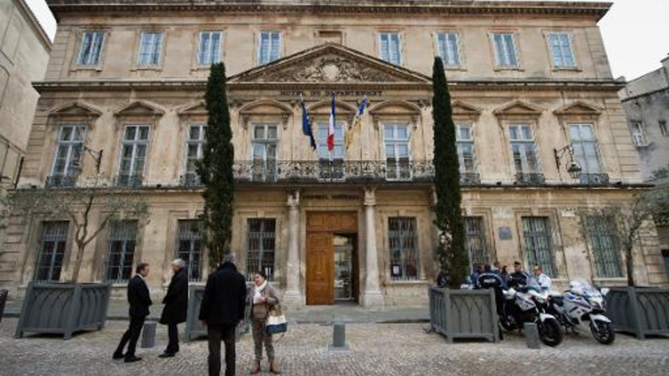 L'hôtel du Département à Avignon le 13 mars 2015 où siège le conseil général du Vaucluse