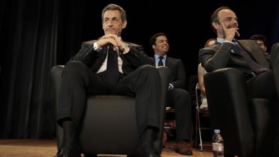 L'ancien président Nicolas Sarkozy, le 26 mai 2015 au Havre
