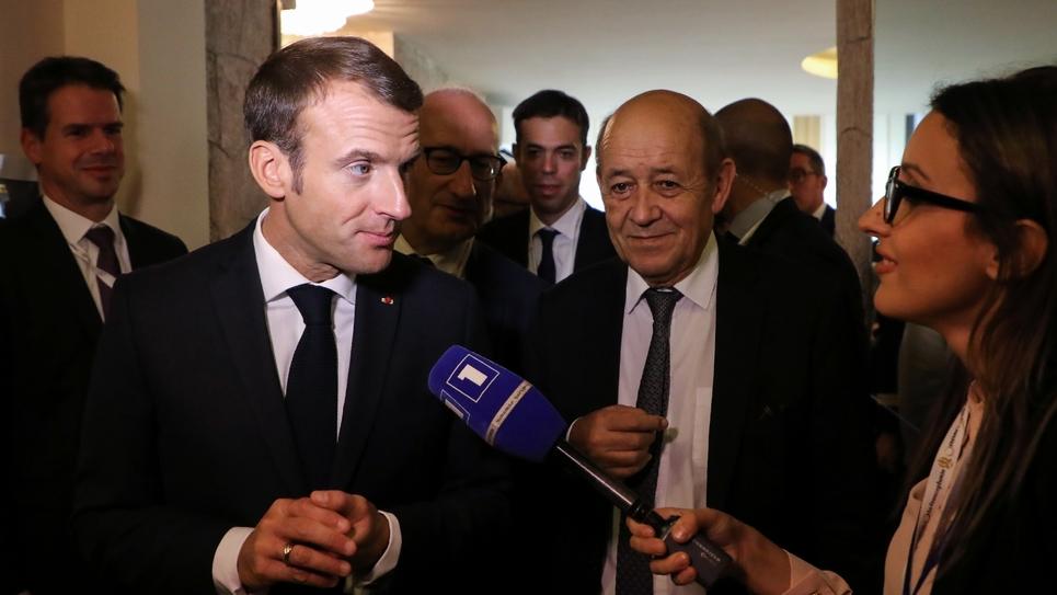 Le président français Emmanuel Macron en marge du sommet de la Francophonie à Erevan en Arménie, le 12 octobre 2018