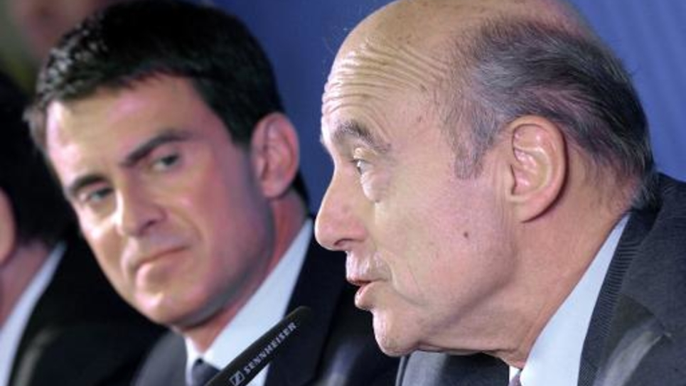 Manuel Valls et Alain Juppé le 23 octobre 2014 à Bordeaux