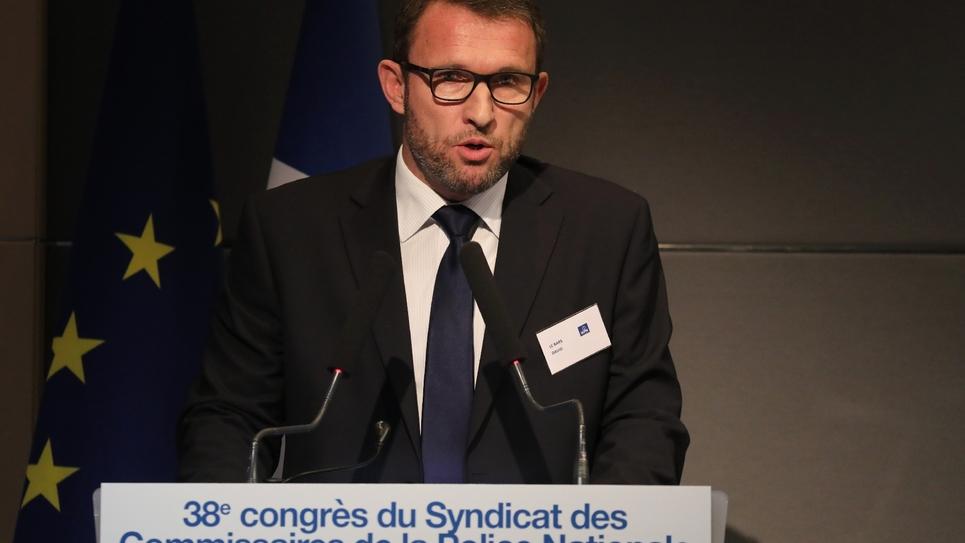 David Le Bars, secrétaire général du syndicat des commissaires de la police nationale (SCPN) à Levallois-Perret le 04 avril 2018