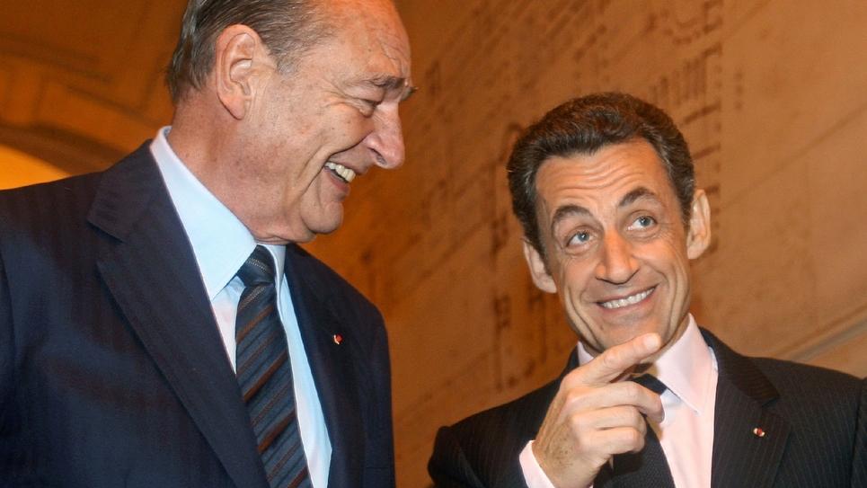 Jacques Chirac et Nicolas Sarkozy le 6 novembre 2009