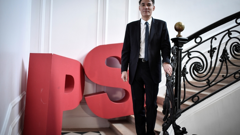Olivier Faure au siège du Parti socialiste, le 16 mars 2018 à Paris
