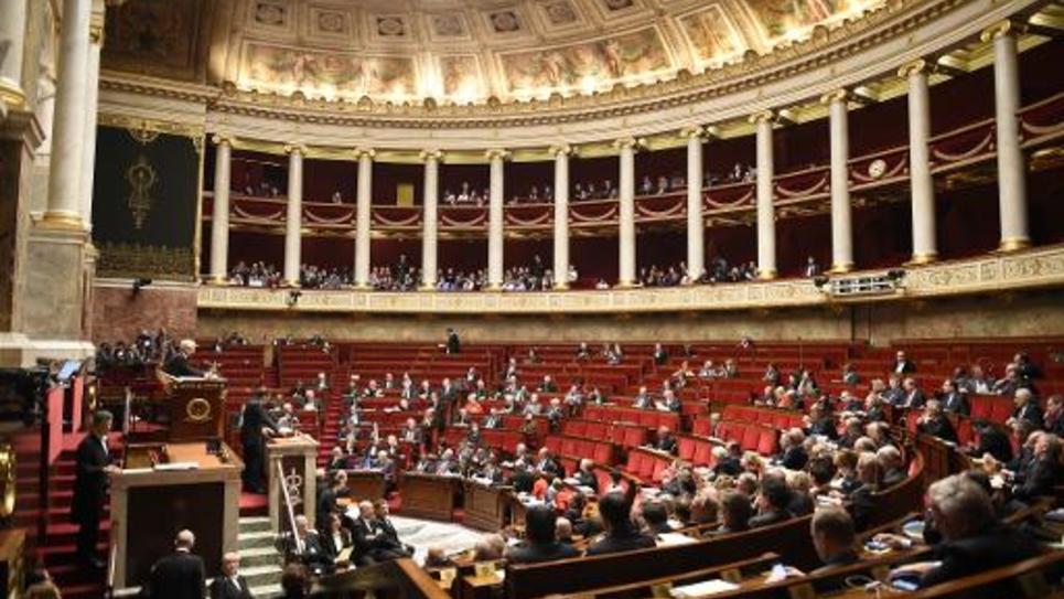 L'assemblée nationale, le 9 février 2015 à Paris