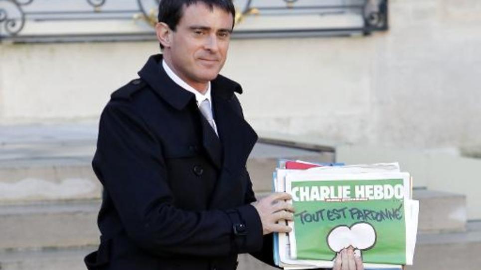 Le Premier ministre Manuel Valls, le 14 janvier 2015 à l'Elysée